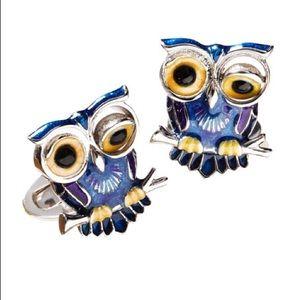 Jan Leslie Winking Owl Cuff Links